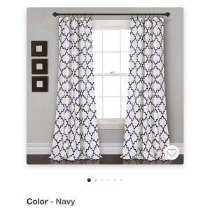 Half Moon Navy Bellagio Room Darkening Curtains